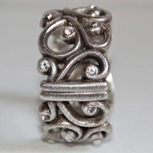 Brighton Jewelry - Brighton Silver Scroll Swarovski Crystal Bracelet
